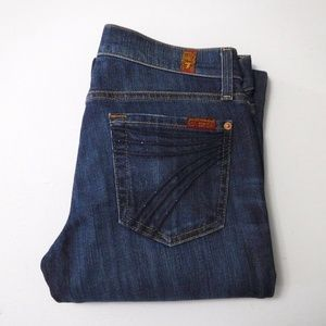 7 For All Mankind Dojo Jeans Size 26 Crystals